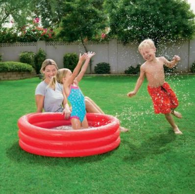 51024E-H2OGO 40 3 Ring Inflatable Pool in Polybag