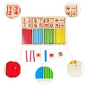 ALY279 ALYTIMES COUNTING CALCULATION MATH EDUCATIONAL TOY WOODEN NUMBER CARD AND RODS BOX