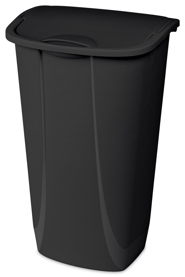 39471-WASTEBASKET 11GAL BLK SWING TOP