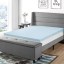 [421914] 3 Inch Gel Memory Foam Bed Topper with Cooling Mattress Pad, King-Blue