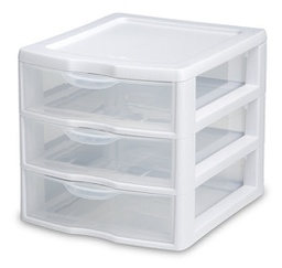 [267556] 39524-DRAWER WHITE CLEAR VIEW