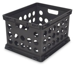 [288488] 18152-FILE CRATE 10 5/8H BLACK PLST
