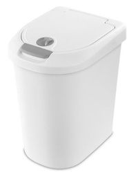 [325605] 24363  WASTBASKET 7.3GAL WHT TOUCH TO