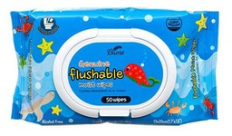 [349868] 369831-BLUNA FLUSHABLE WIPES 50CT BLUE