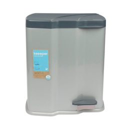 [370763] 32495-WASTE BIN  2PC 7L+15L STEP