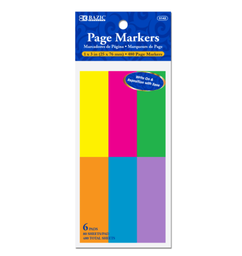 [373228] 5142-BAZIC 80 Ct. 1 X 3 Neon Page Markers (6/Pack)