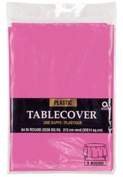 [383722] 37838-TABLE COVER 84'' ROUND HOT PINK