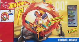 [388429] FTC959993 / 45363 Mattel DDC Hot Wheels Throwback Fireball Crash