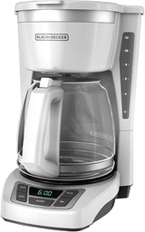 [408089] 24808- BLACK & DECKER- COFFEEMAKER 12-CUP DIGITAL WHI