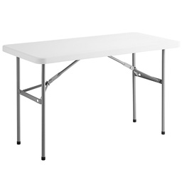 "[414077] 176ECO4824-Choice 24""x48"" White Plastic Folding Table"