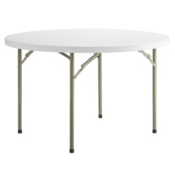 "[414078] 384YCZ48RND-Lancaster Table 48"" Round Heavy Duty Granite White Plastic"