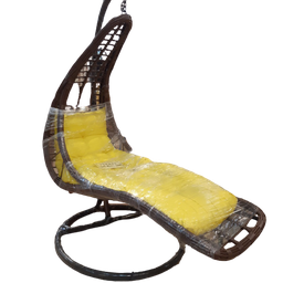 [414050] A-37 PLASTIC STANDING Weave Lounger CHAIR_ Yellow