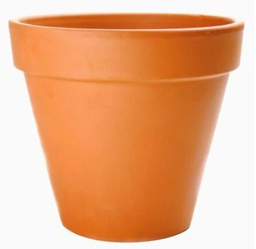 [420317] FP-R23 (D-23cm/H-21cm) RED FLOWER POT