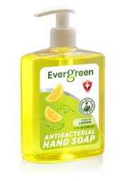 [422367] EverGreen Lemon Antibacterial Hand Soap 12x17 fl oz. Bottle w/ Pump