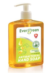 [422369] EverGreen Original Gold Antibacterial Hand Soap 12x17 fl oz. Bottle w/ Pump