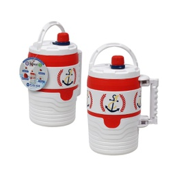 [425685] 46808-WATER JUG 48ozWHT/ORANGE INSULAT